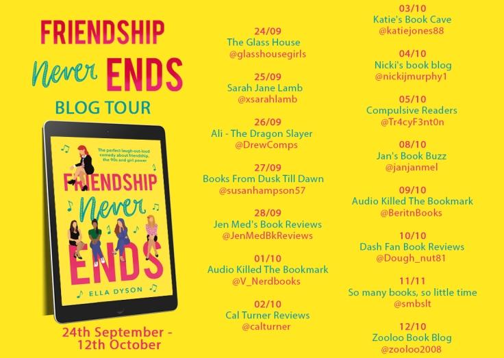 Friendship Never Ends blog tour