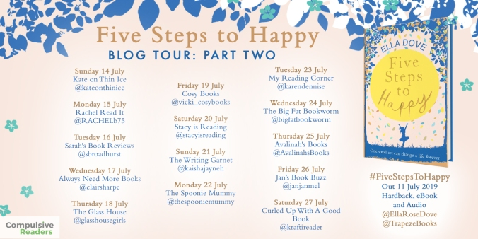 Five Steps to Happy HB blog tour part two