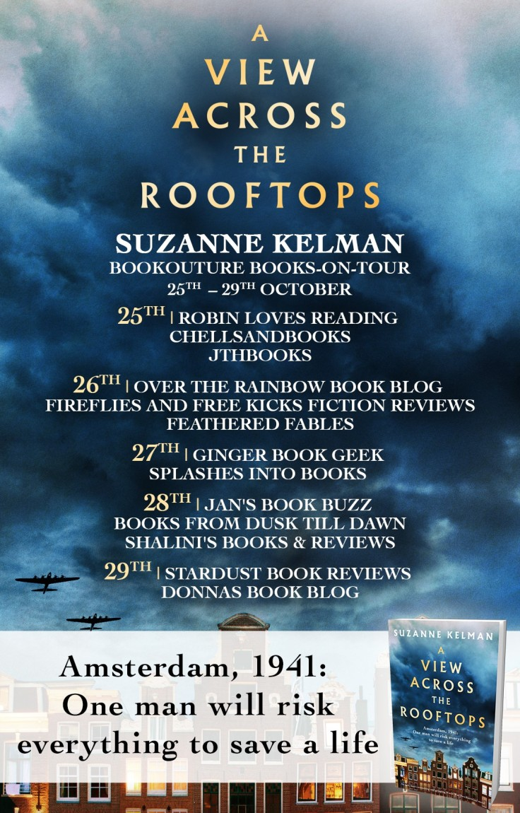 View Across the Rooftops - Blog Tour Poster