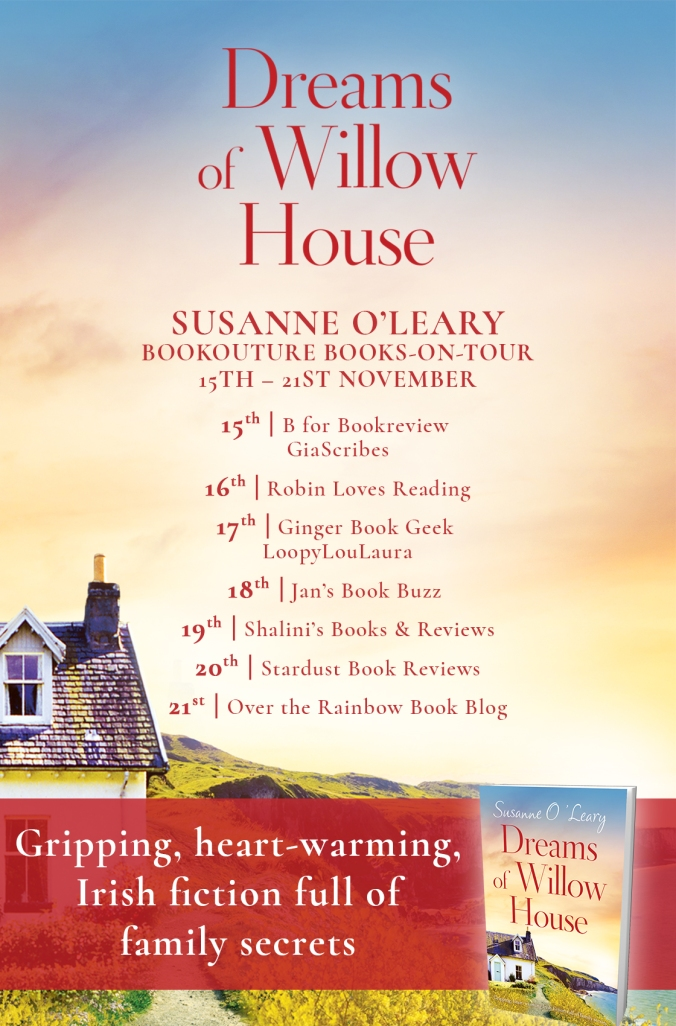 Dreams of Willow House blog tour poster
