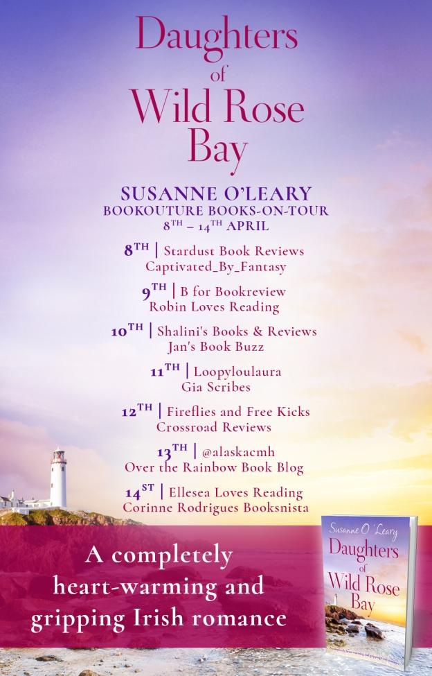 Daughters of Wild Rose Bay blog tour poster