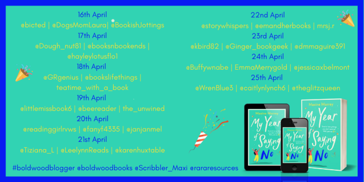 My Year of Saying No Blog Tour